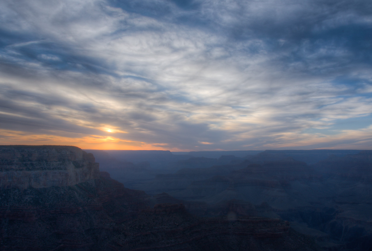 Sunset in Grand Canyon National Park in Arizona, USA