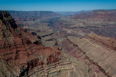Overlooking view of the Grand Canyon in Arizona, USA