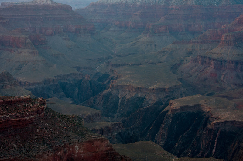Overlooking view of the Grand Canyon in Arizona