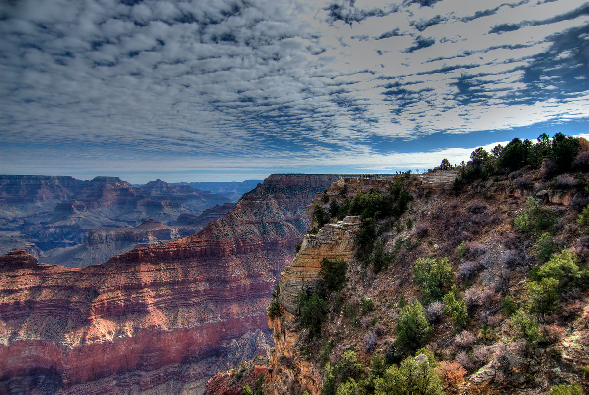 Clouds above the Grand Canyon in Arizona
