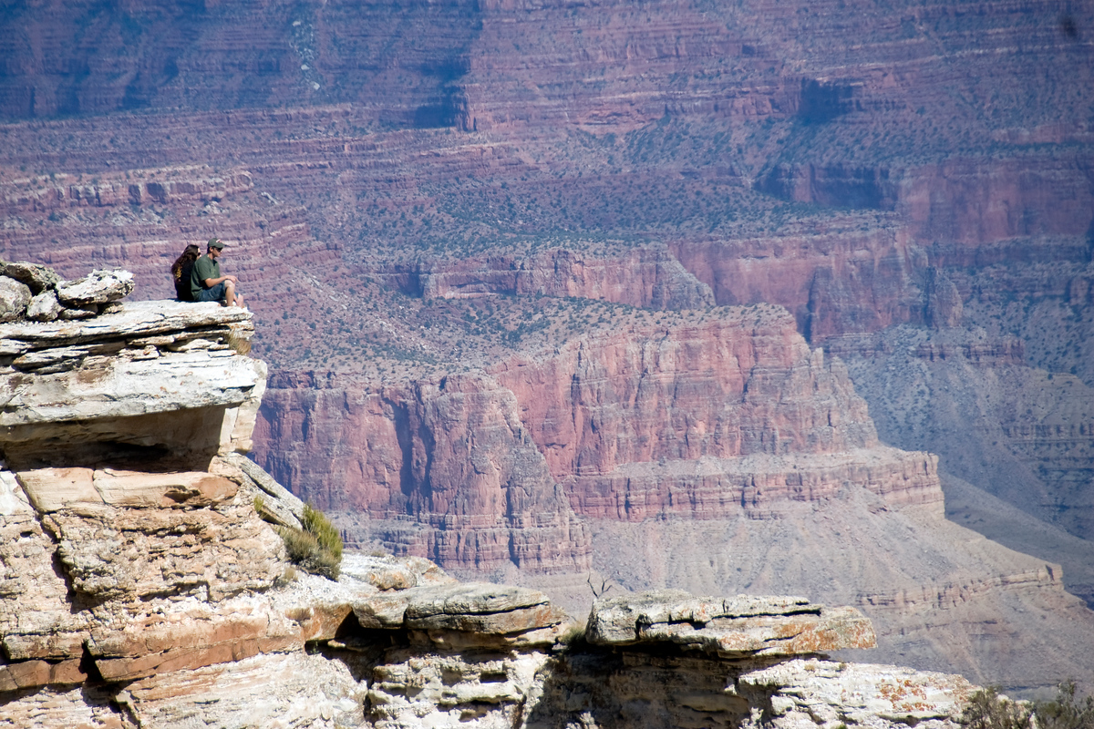 Looking out over the Grand Canyon, Arizona