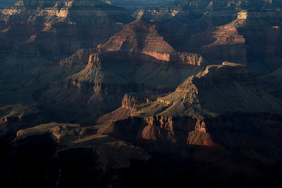 The rock formations at Grand Canyon National Park in Arizona, USA