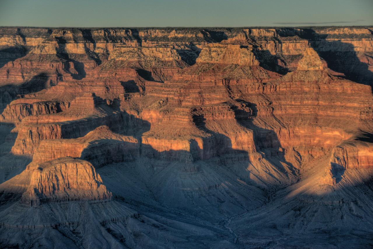 The canyon formation at Grand Canyon National Park in Arizona, USA