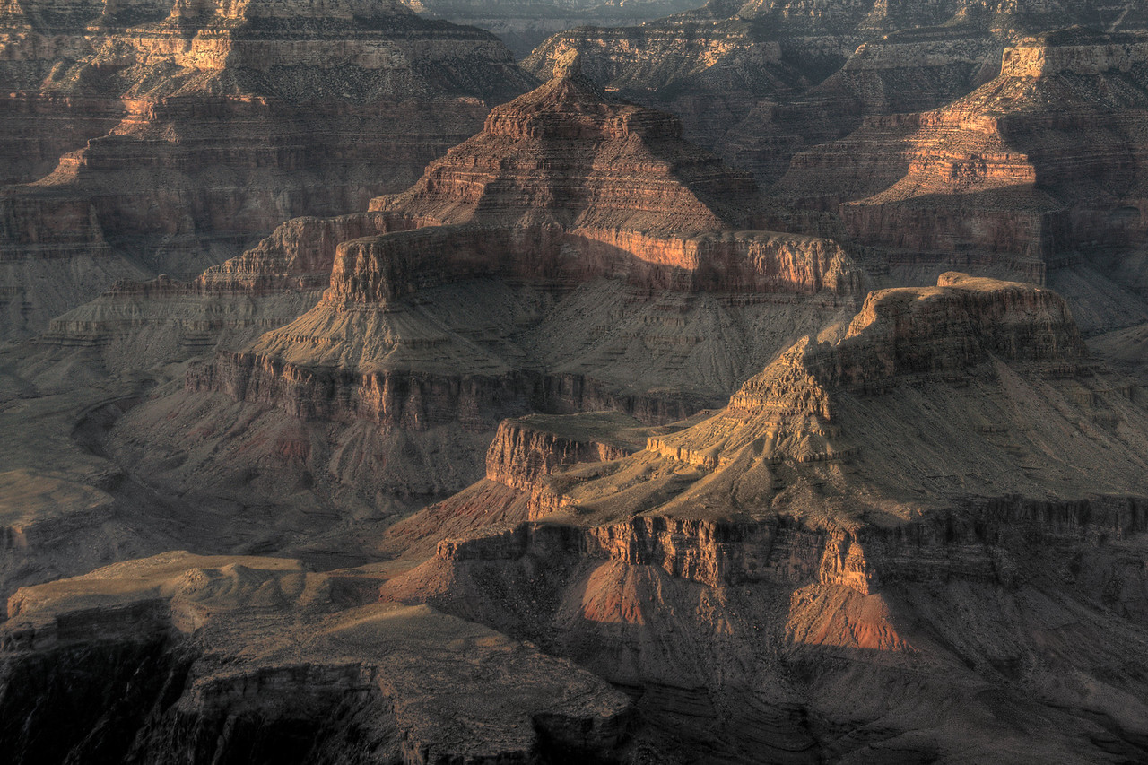 The canyons at Grand Canyon National Park in Arizona, USA