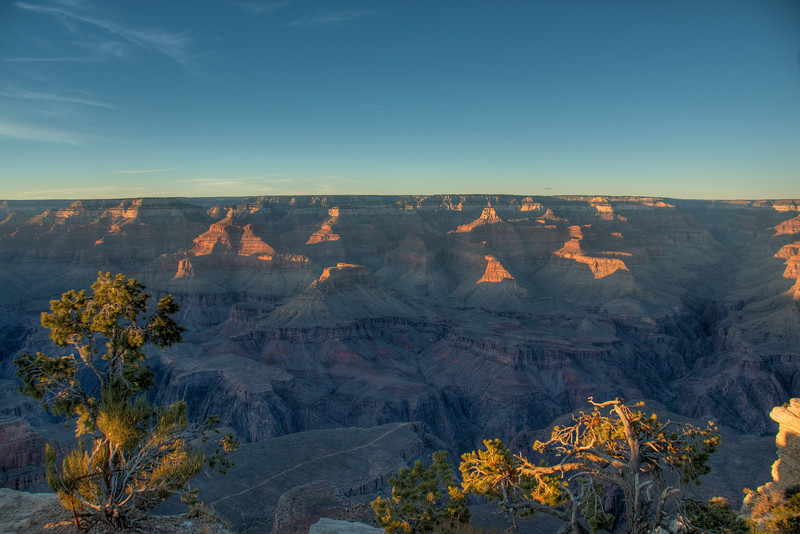 Overlooking view of the Grand Canyon National Park in Arizona, USA