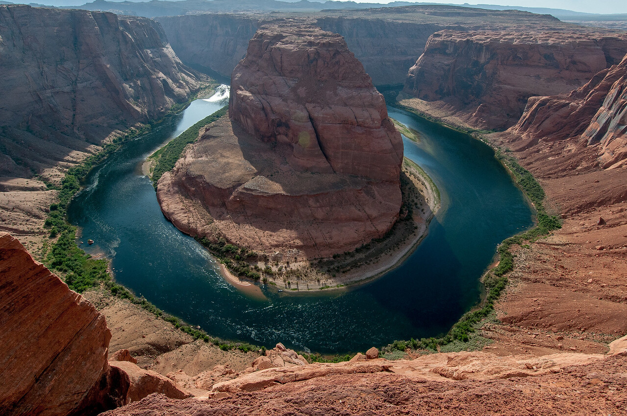 The Horseshoe Bend in Lake Powell, Arizona, USA