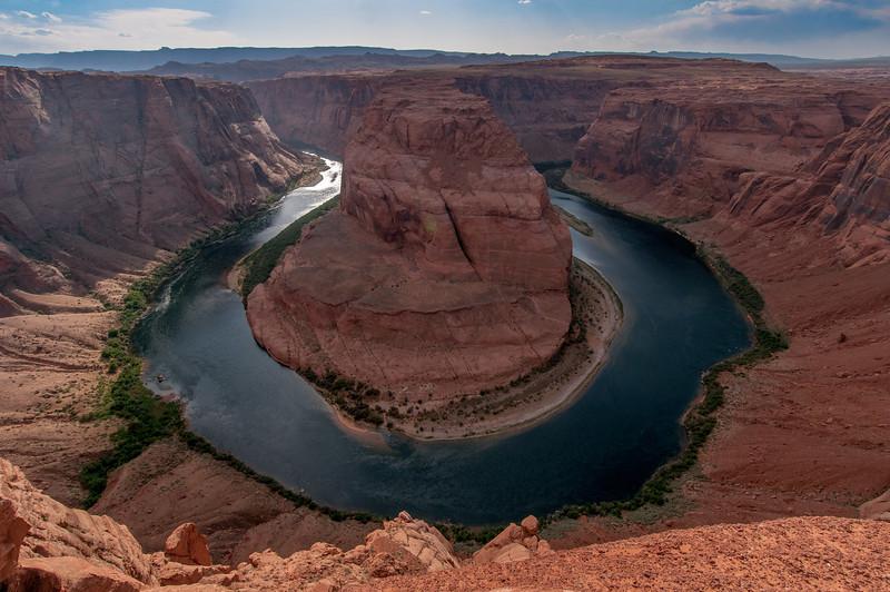 The Horseshoe Bend in Lake Powell, Arizona, USA