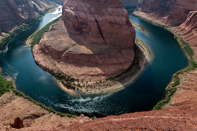 Horseshoe Bend in Lake Powell, Arizona, USA
