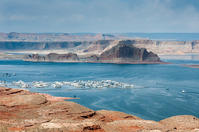 Panorama of Lake Powell in Arizona, USA