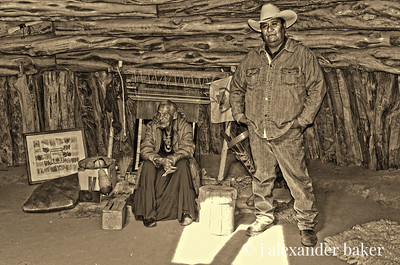 Suzy the weaver and Billy the guide, Monument Valley, Navajo Nation