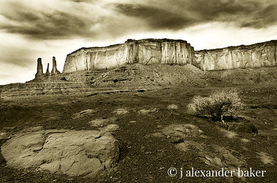 Three Sisters, Monument Valley, Navajo Nation USA