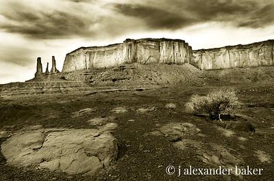 Three Sisters, Monument Valley, Navajo Nation USA