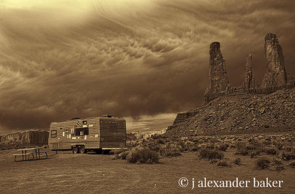 Chuck Wagon, 3 Sisters, Monument Valley (lighter version)