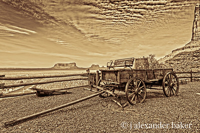 Buckboard at Gouldings Lodge, Monument Valley
