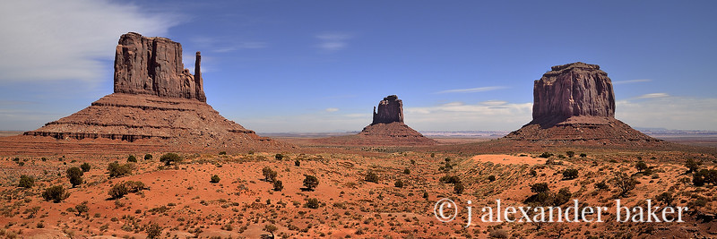 The Mittens & Merrick Butte, Monument Valley, Navajo Nation, USA