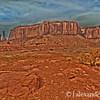 Three Sisters, Navajo Horses, Monument Valley, Navajo Nation, USA