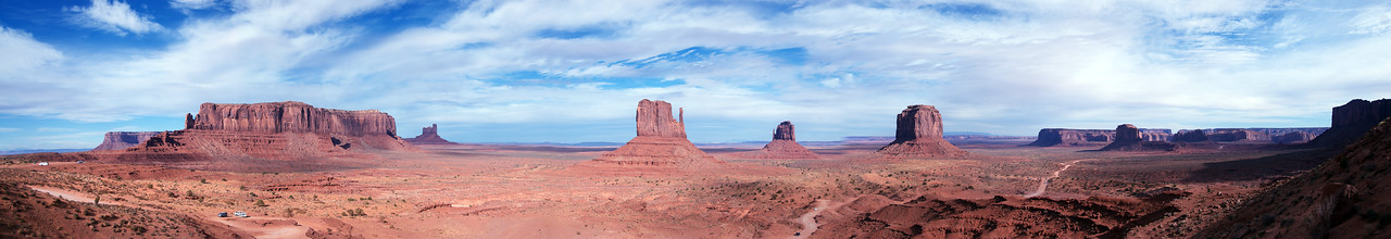 Panorama of landscape in Monument Valley, Colorado, USA