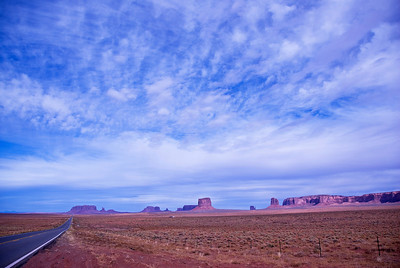 Road near Monument Valley in Colorado, USA