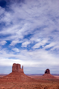 Monument Valley and the sky in Colorado, USA
