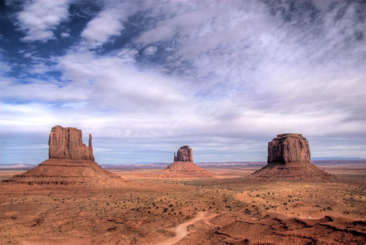 Panorama of Monument Valley in Colorado, USA