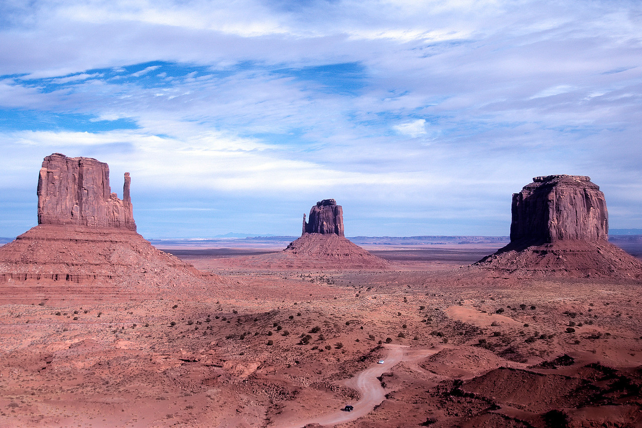 The Monument Valley from the valley floor - Colorado, USA