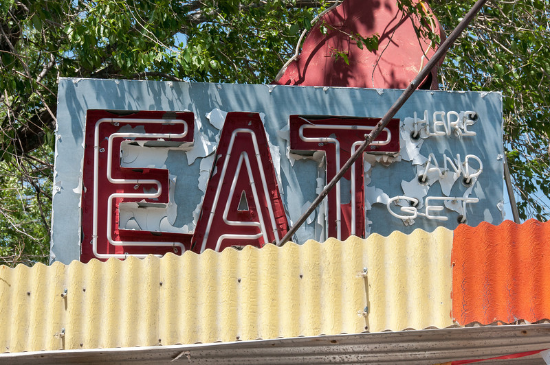 Sign outside a diner in Seligman, Arizona