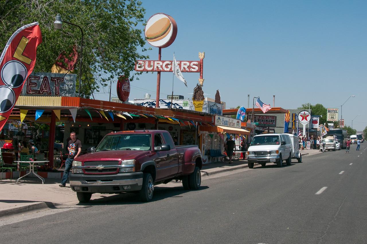 Street scene in Seligman, Arizona