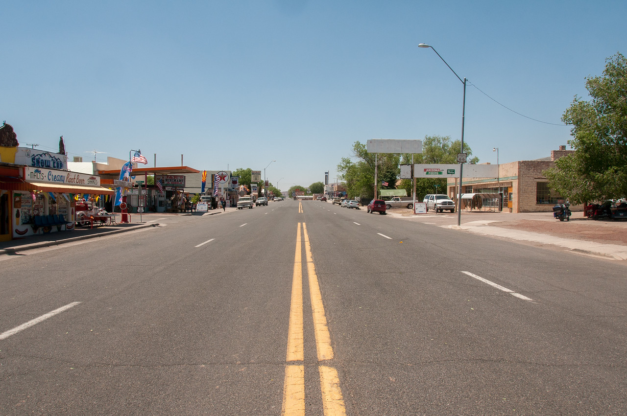 Street scene in Seligman, Arizona