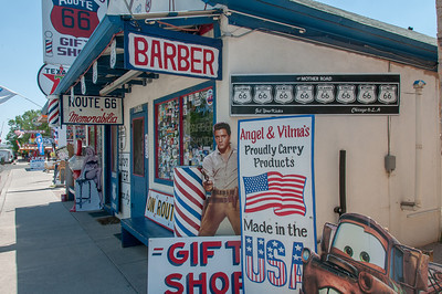Barber shop in Seligman, Arizona