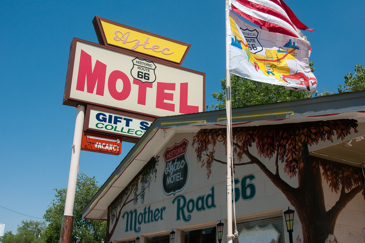 Shops outside motel in Route 66, Seligman, Arizona