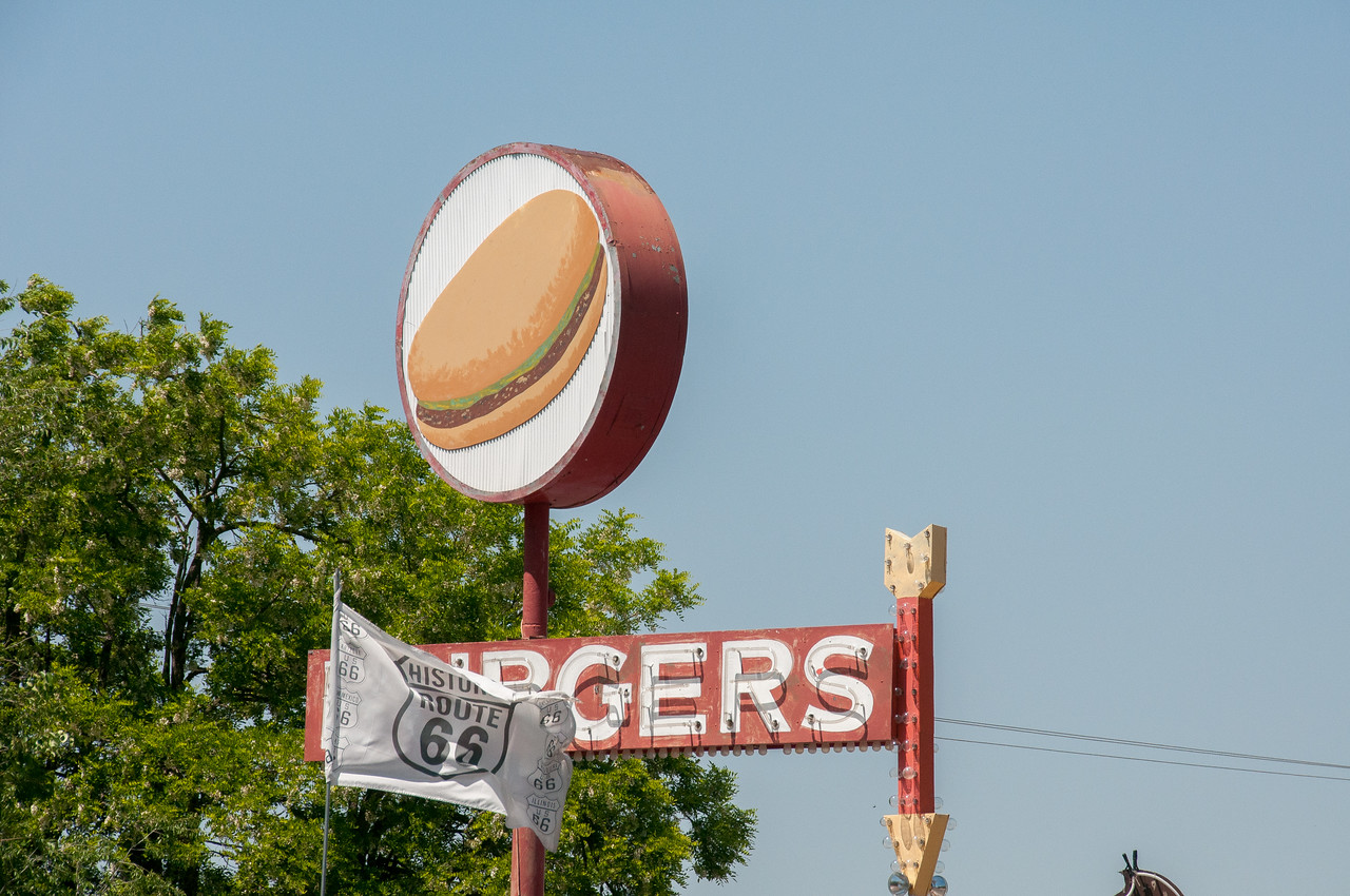 Burger joint along Route 66 in Seligman, Arizona