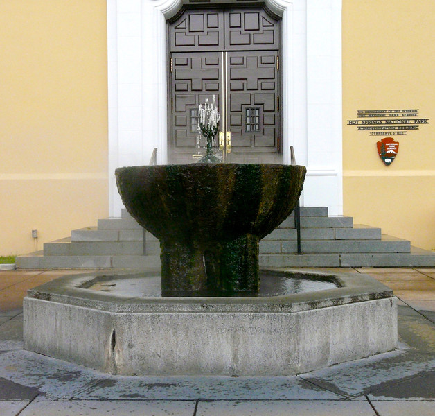 Hot springs fountain