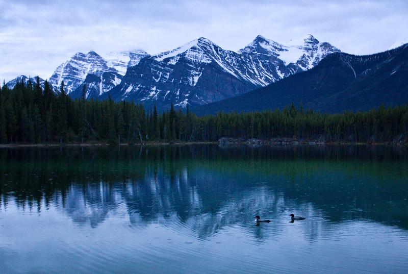 Sunrise at Herbert Lake