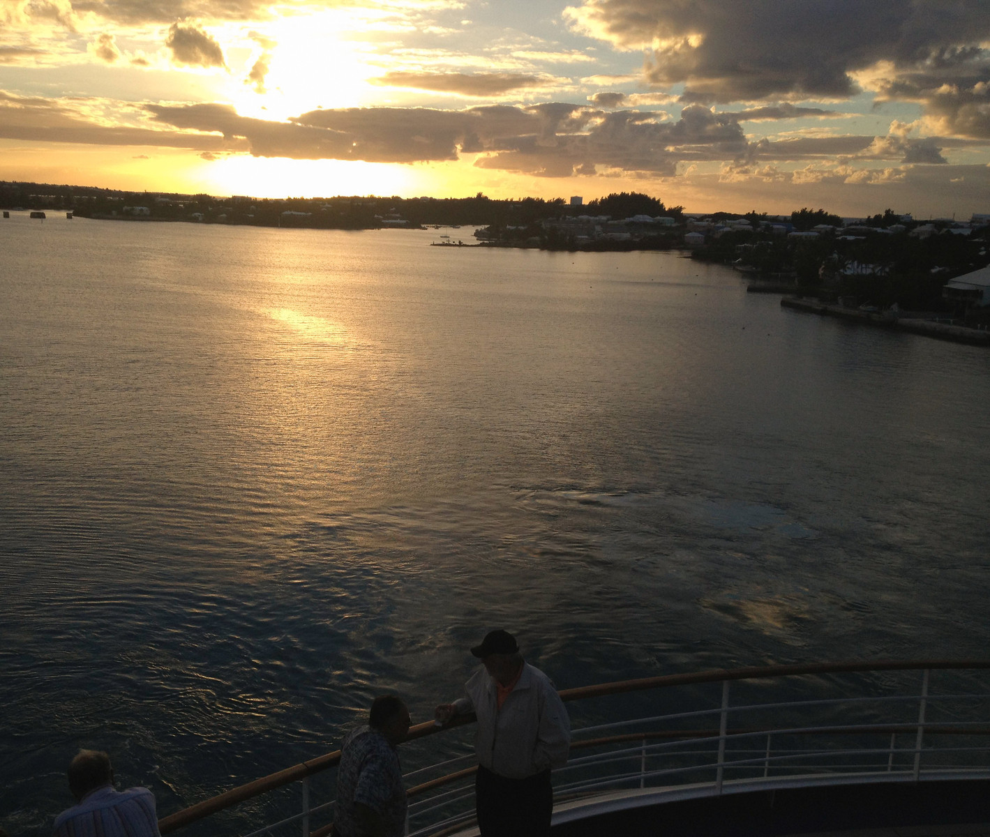 Sunset over the water in Bermuda