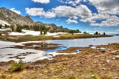 Beehive Basin Lake in HDR