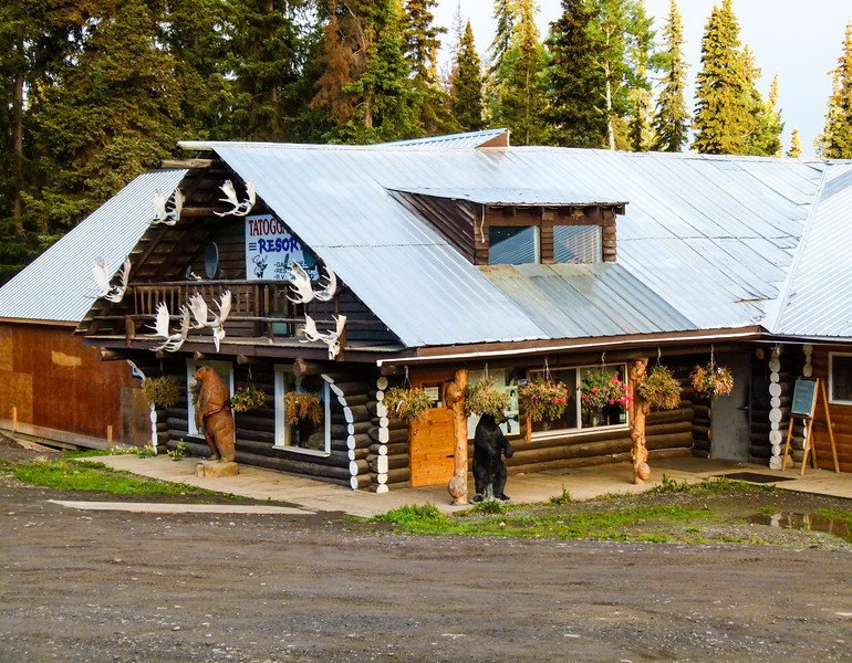 Tatogga Lake Resort is one of the few places to stay on a Cassiar Highway road trip in northern British Columbia.