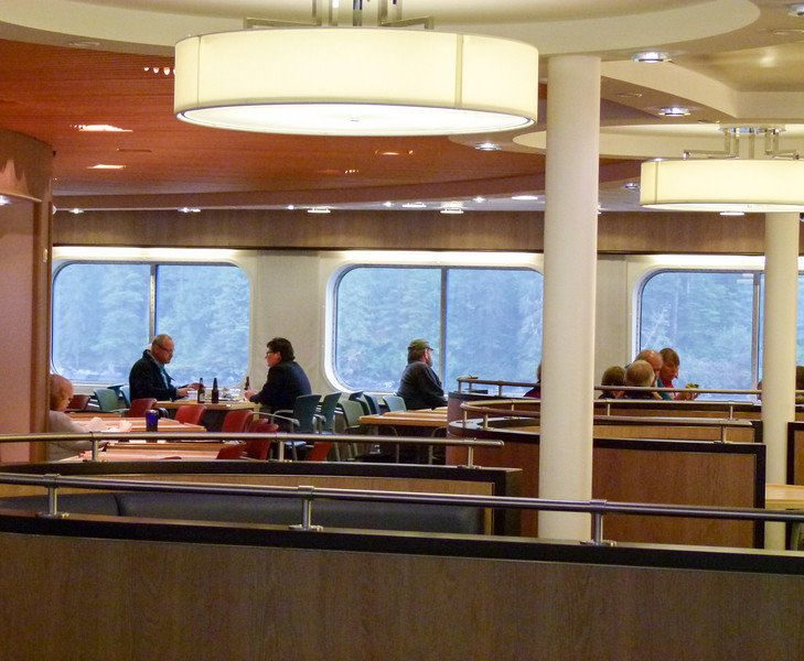 Prince Rupert Ferry Tips: Relaxing in Canoe Cafe is good way to spend part of the day. Click through to read more boomer travel tips.