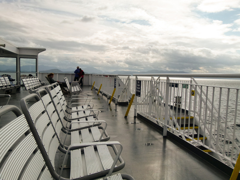 Watching for whales on the Prince Rupert Ferry