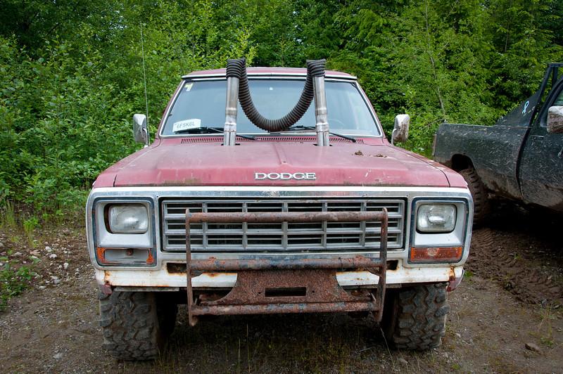 Offroad truck in Haida Gwaii, British Columbia