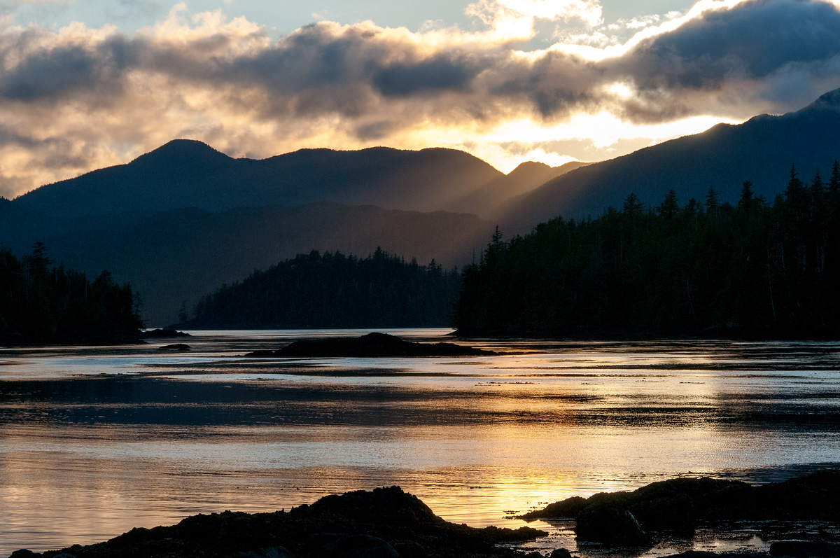 Sunset on Gwaii Haanas National Park, British Columbia