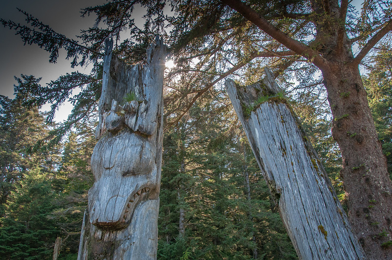 Totems poles found inside Gwaii Haanas National Park