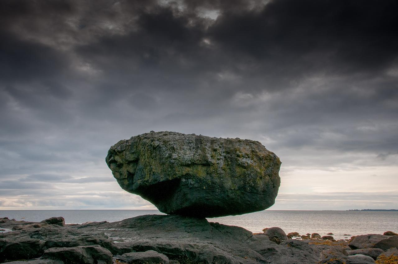Balance Rock in Haida Gwaii, British Columbia