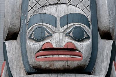 Totem pole in Skidegate, Haida Gwaii, British Columbia