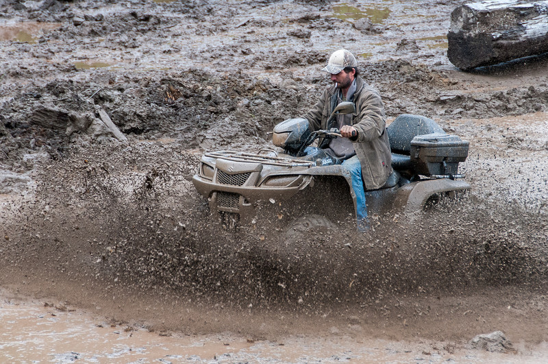 Mud-bog races in Port Clements during Canada Day in Haida Gwaii, British Columbia