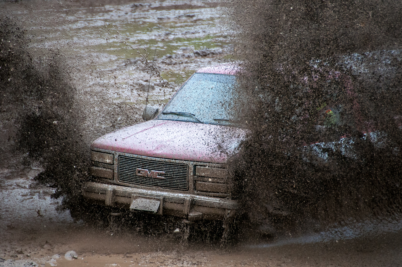 Mud-bog races in Port Clements, Haida Gwaii, British Columbia