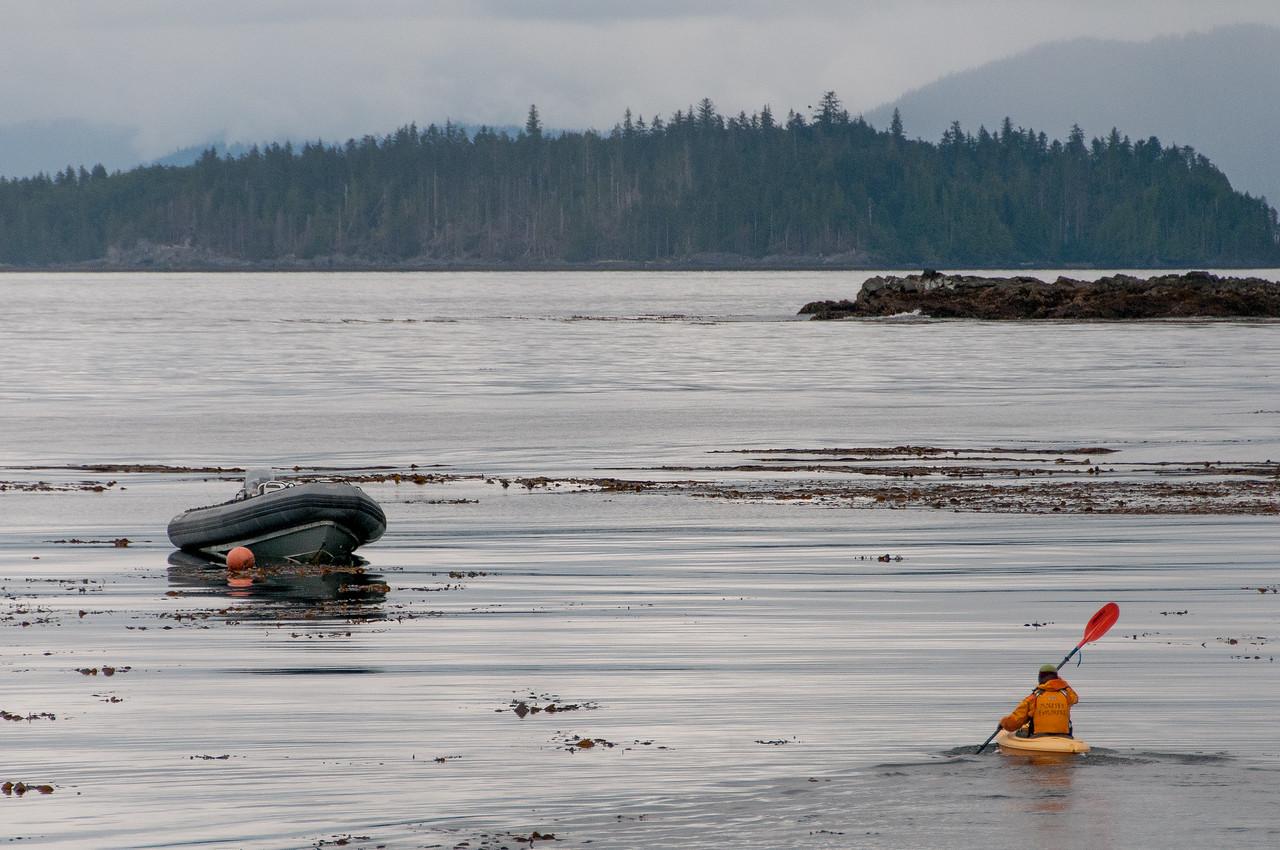 Tourist canoe in Haida Gwaii, British Columbia