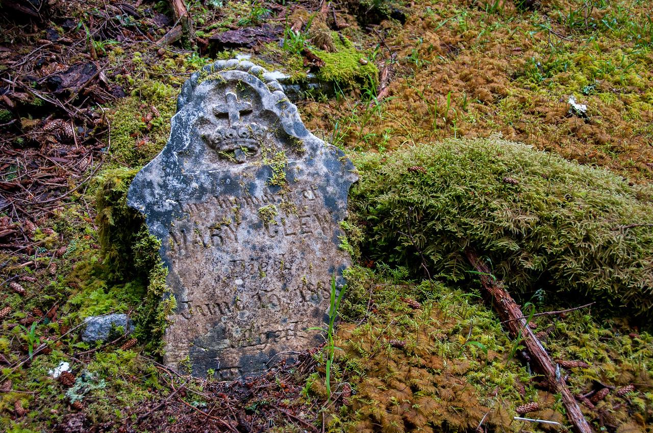 Tombstone in Tow Hill Ecological Reserve, Haida Gwaii, British Columbia
