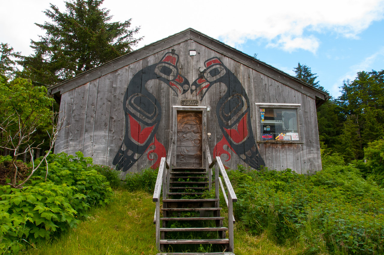 Haida Arts & Jewelry shop in Skidegate, British Columbia