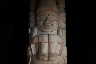 Totem pole in Haida Gwaii, British Columbia