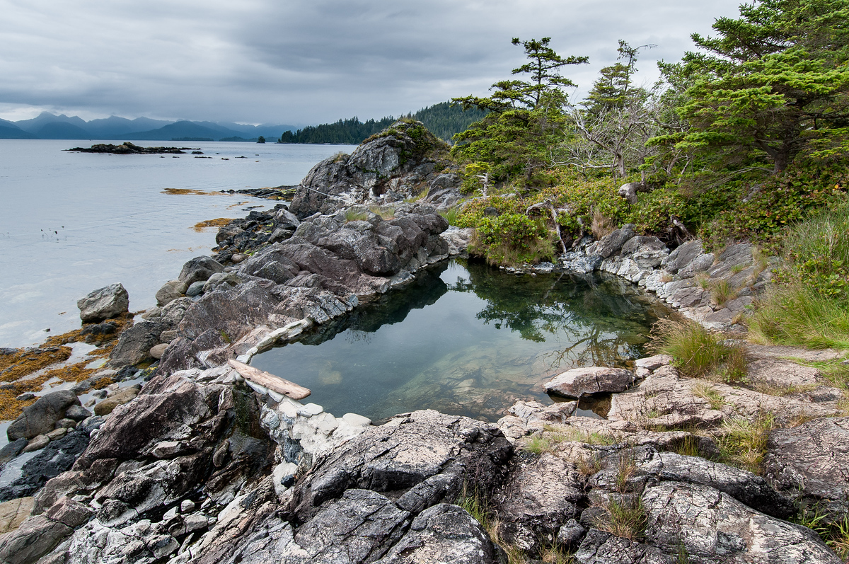 Hot Spring in Gawii Haanas National Park, British Columbia